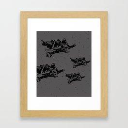 Bearskin Grey Framed Art Print