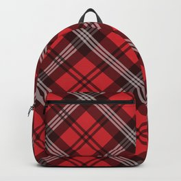 Scottish Plaid (Tartan) - Red Backpack