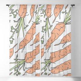 Orange Carrots Sheer Curtain