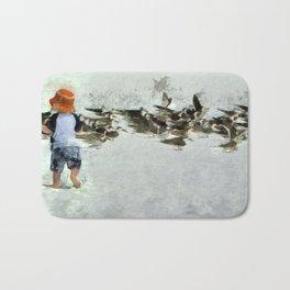 Bird Play Bath Mat