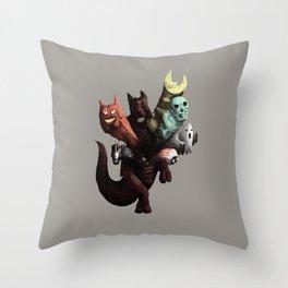 Danger Kangaroo Throw Pillow