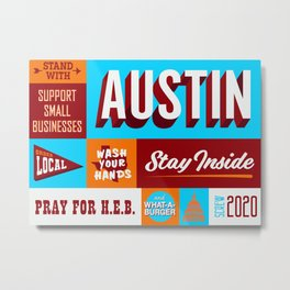 Stand With Austin Metal Print