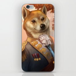 Royal Shiba Dog Portrait iPhone Skin