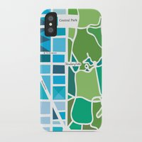 manhattan iPhone & iPod Cases featuring Manhattan by Jenny Wallmark
