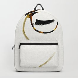 Tortoiseshell Glasses Blonde Backpack