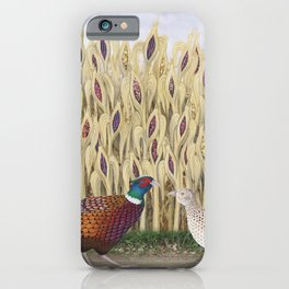 ring necked pheasants and corn iPhone Case