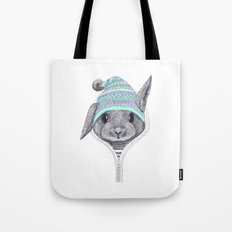 The rabbit in a hood Tote Bag