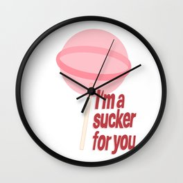 I'm a sucker for you - Jonas Brothers Wall Clock