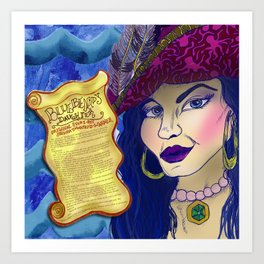 Bluebeard's Daughter  Art Print