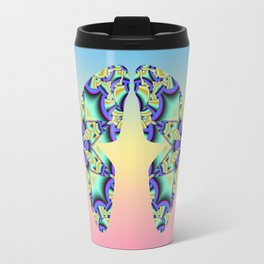 A touch of Spring, fantasy flower pattern design Travel Mug