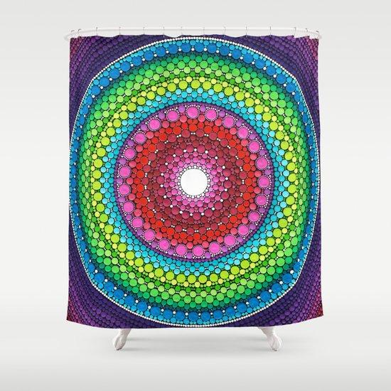 Mandala Of Inner Peace Shower Curtain By Elspeth McLean