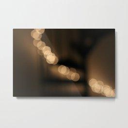 Woah! Super Pretty Lights! Stars on a Spiral Staircase... Bokeh! Metal Print