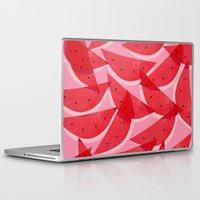 georgiana paraschiv Laptop & iPad Skins featuring Watermelon by Georgiana Paraschiv