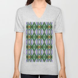 185- bottles and beads abstract pattern Unisex V-Neck