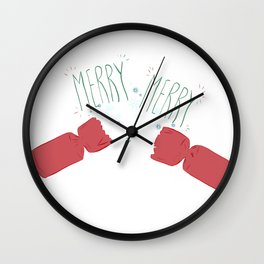 Merry Crackers Wall Clock