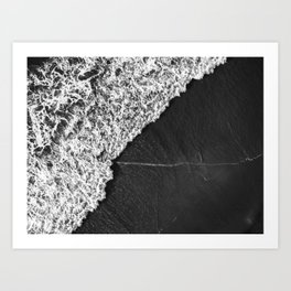 Ocean Waves in Black & White  |  Drone Photography Art Print