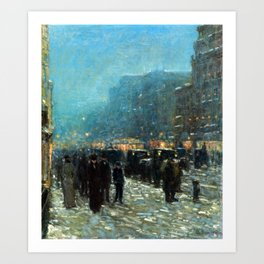 Childe Hassam Broadway and 42nd Street Art Print