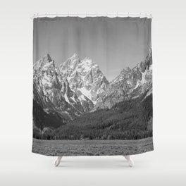 Ansel Adams - Grass Valley and Grand Tetons Shower Curtain