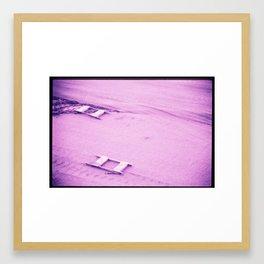 Sawhorses Framed Art Print