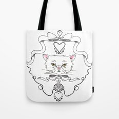 Cat Crest Tote Bag