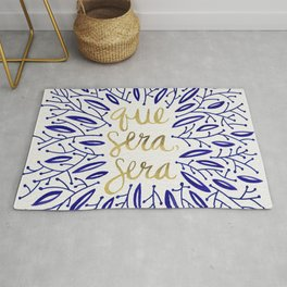 Whatever Will Be, Will Be – Navy & Gold Rug