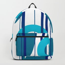 Three big and small Turquoise Rings with Stripes Backpack