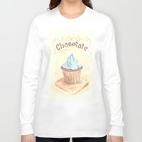 chocolate Long Sleeve T-shirts featuring Chocolate by YeesArts