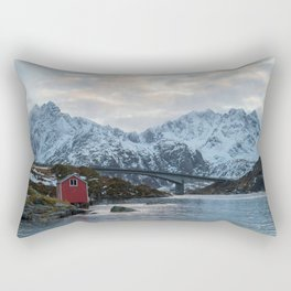 Lofoten winter Rectangular Pillow