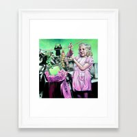 alice x zhang Framed Art Prints featuring Alice  by Cristian Blanxer