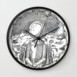 Space Knight Tess Wall Clock