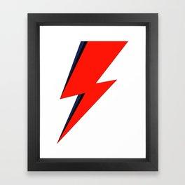 Red Bowie David Lightning Bolt Framed Art Print