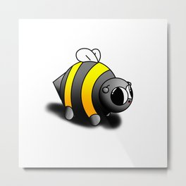 Possibly the cutest bee ever drawn by human hands Metal Print