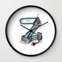 MACHINE LETTERS - Z Wall Clock