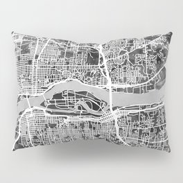 Quad Cities Street Map Pillow Sham