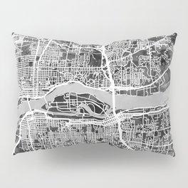 Quad Cities Street Map Pillow Sham