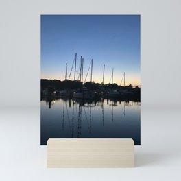 Reflection of sailboats   Severna Park, Maryland Mini Art Print