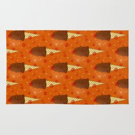 Chocolate Scoops Pattern Rug