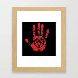 Red Right Hand Framed Art Print