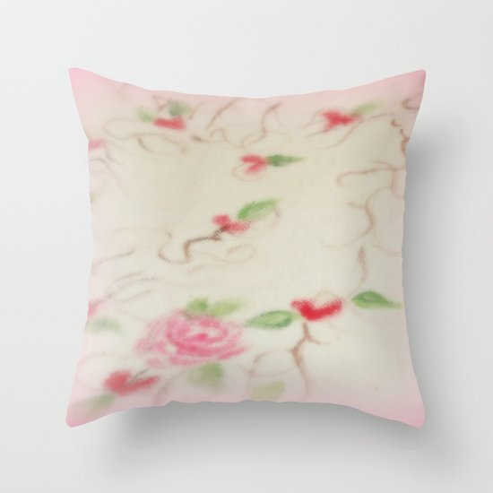Hearts and Roses Throw Pillow
