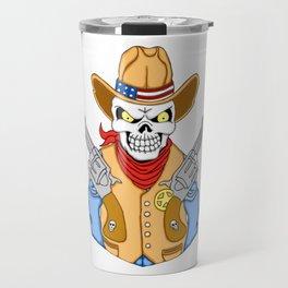 Western Cowboy Skull Travel Mug