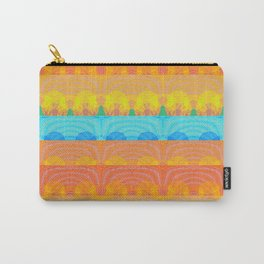 Vintage Sunset Stamp Print Glow Pattern Carry-All Pouch