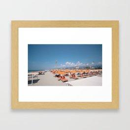 ITALIAN BEACH  - Via Reggio. Framed Art Print