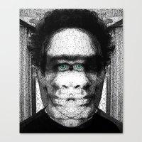 jon contino Canvas Prints featuring Jon 345 by Jose Luis
