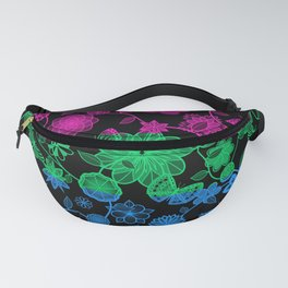 Butterfly Garden, Pride Flag Series - Polysexual Fanny Pack
