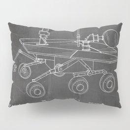 Nasa Mars Rover Patent - Mars Exploration Rover Art - Black Chalkboard Pillow Sham