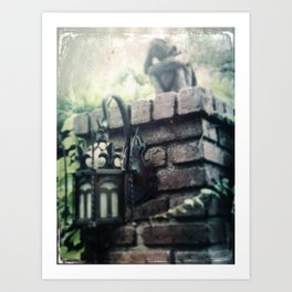 Haunted Mansion Angel Grief by Topher Adam 2017 Art Print