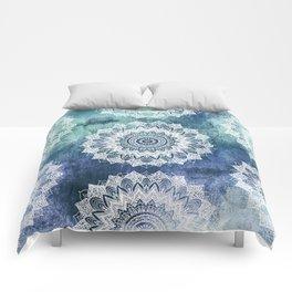 BOHOCHIC MANDALAS IN BLUE Comforters