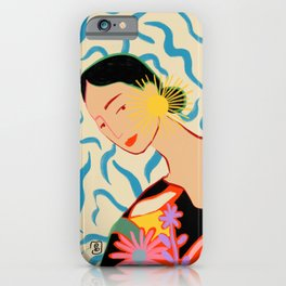 SMILING WOMAN AND SUNSHINE iPhone Case