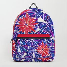 Water Lilies – Indigo & Red Palette Backpack