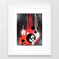 fez Framed Art Prints featuring Bubble Fez by Sinister Hand Studios